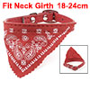 Faux Leather Adjustable Triangular Scarf Decor Dog Cat Pet Collar Red