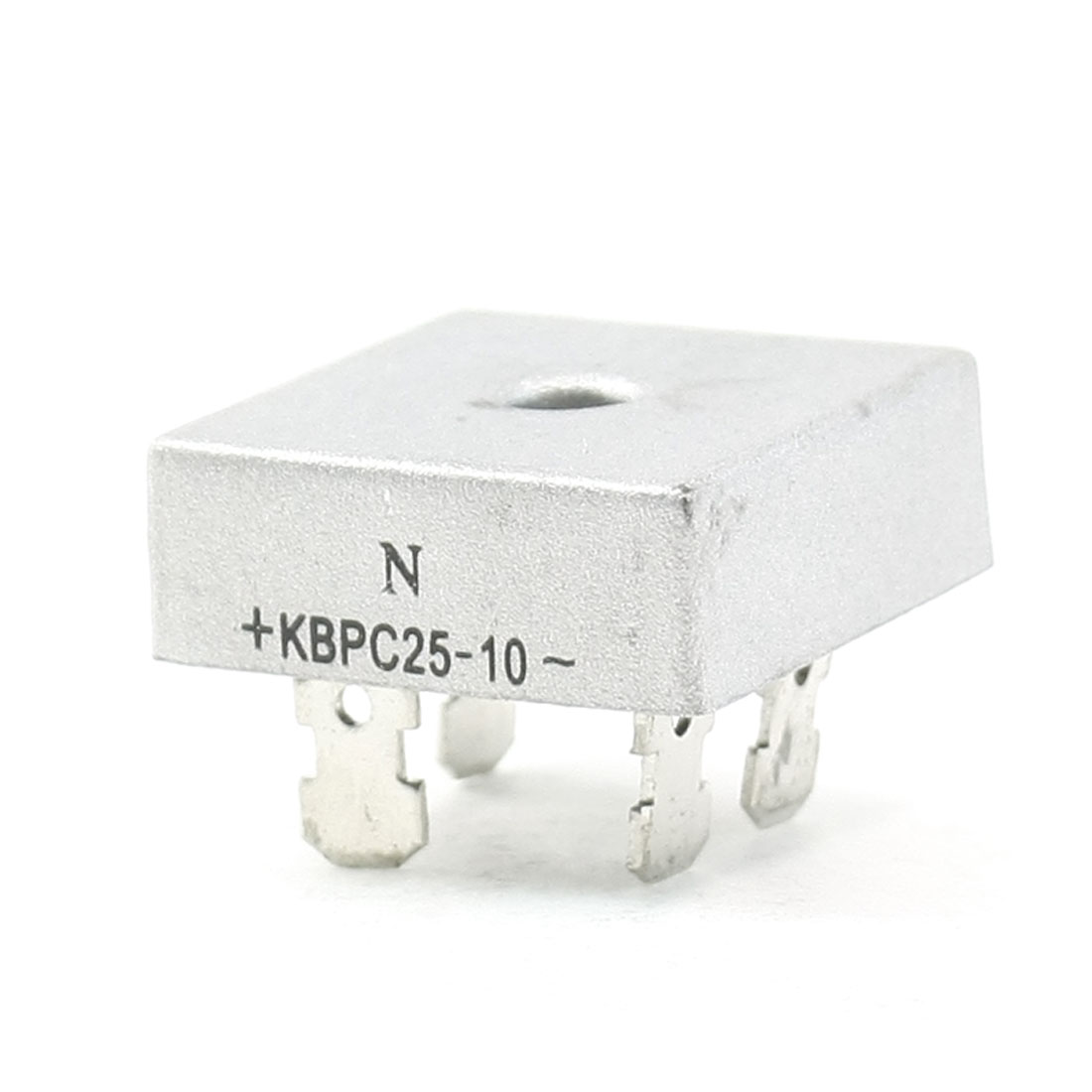 KBPC25-10 1KV 25A Single Phase Bridge Rectifier Half-Wave Silver Tone