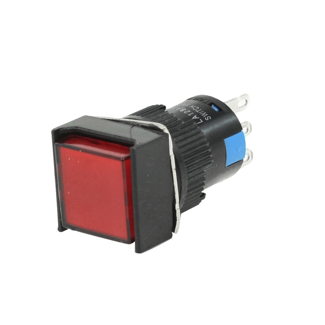 AC 250V 5A SPDT 1NO 1NC 3 Pins Momentary Red Square Push Button Switch