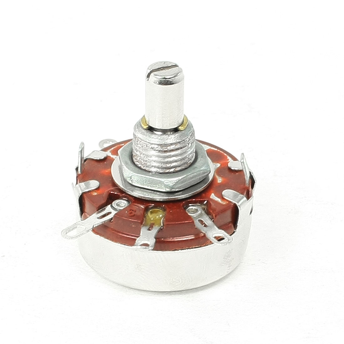 100K ohm 2W Watt 6mm Round Shaft Rotary Taper Carbon Potentiometer WTH118