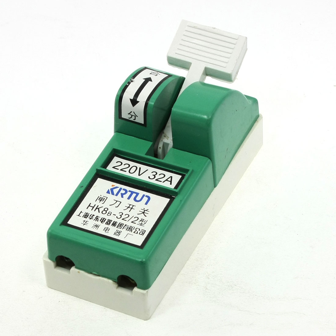 AC 220V 32A One Pole Single Throw Circuit Control Closing Disconnect Switch Green