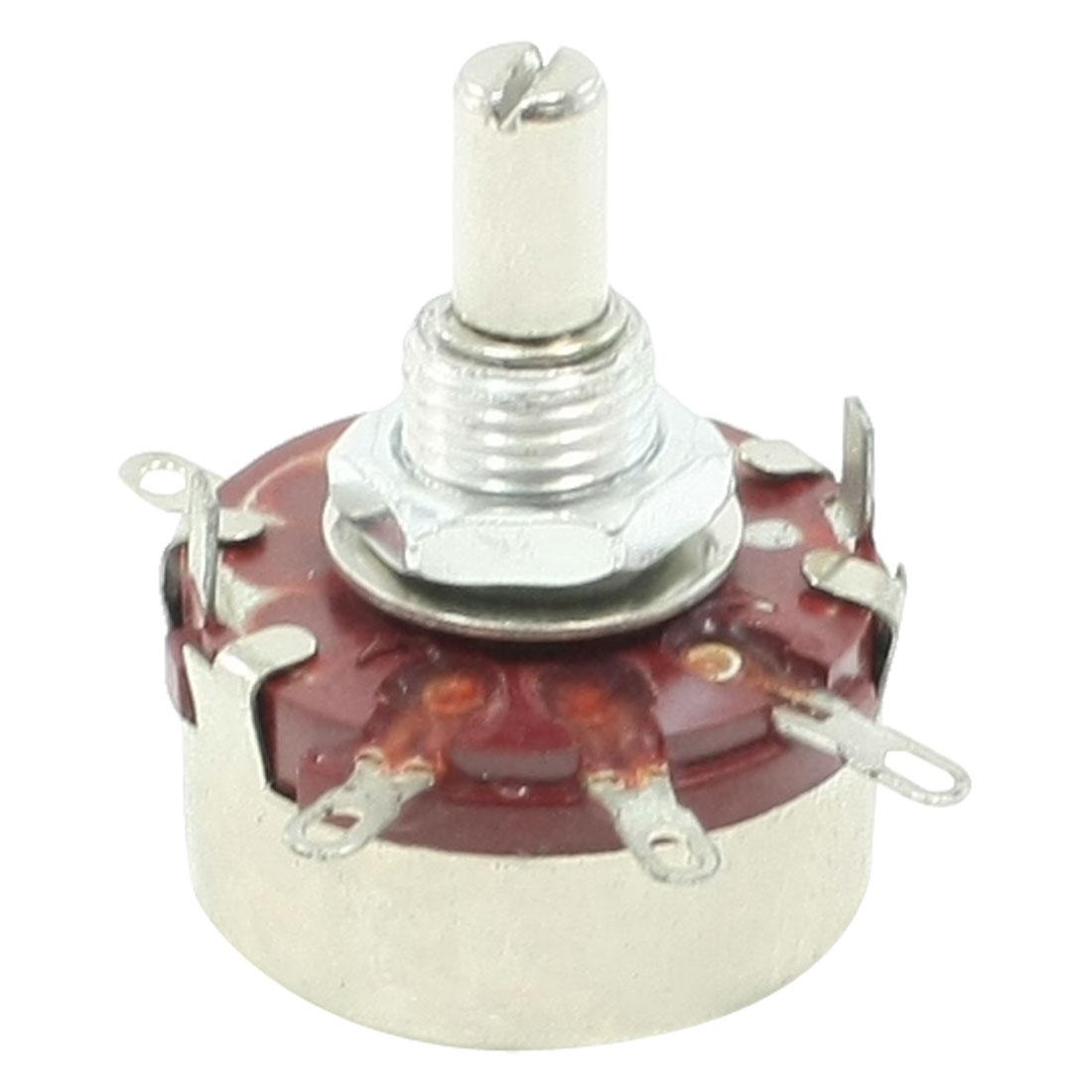 2.2K ohm 2W Watt 6mm Round Shaft Rotary Taper Carbon Potentiometer WTH118