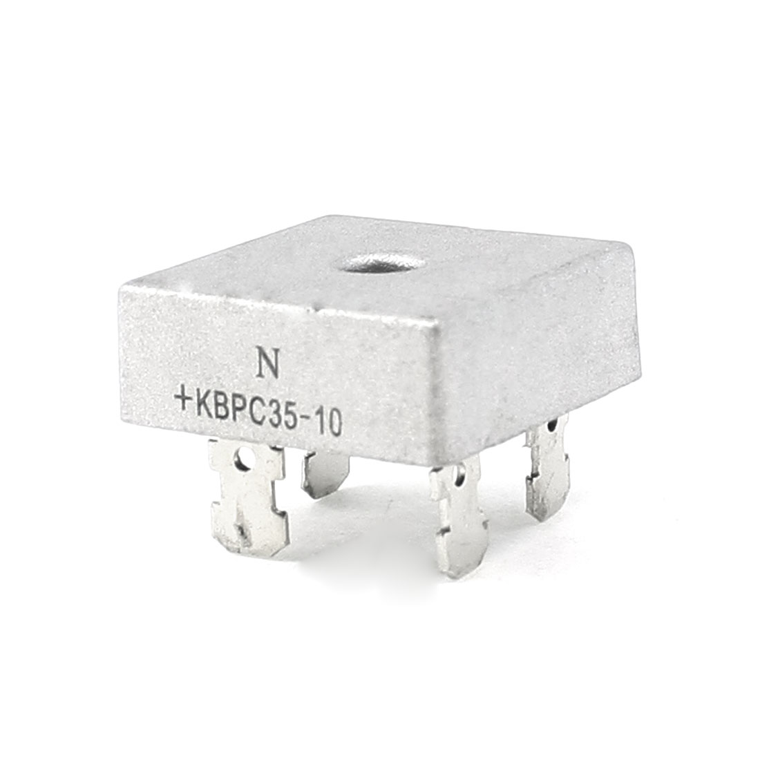 KBPC35-10 1KV 35A Single Phase Bridge Rectifier Half-Wave Silver Tone