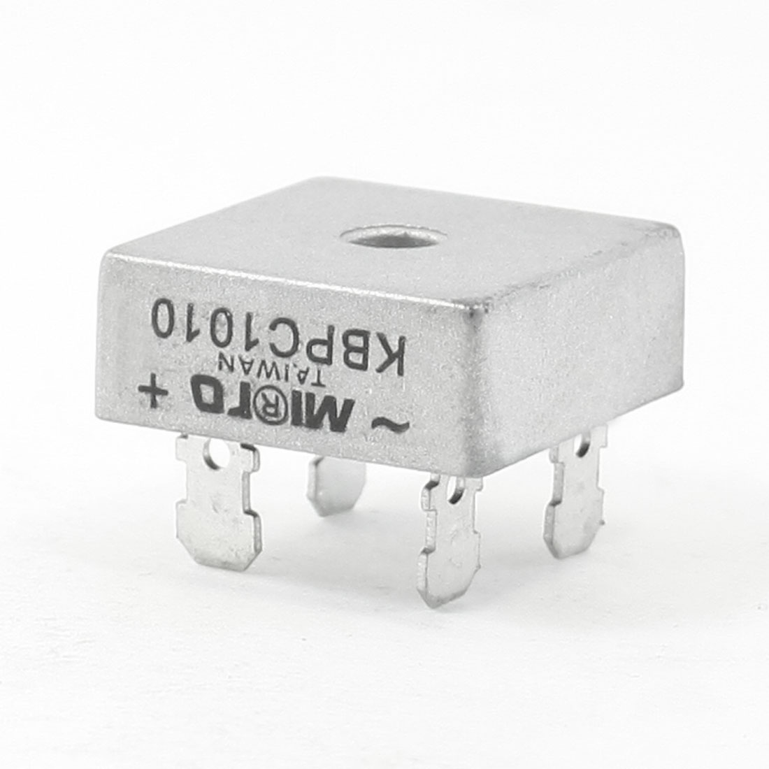 KBPC10-10 1KV 10A Single Phase Bridge Rectifier Half-Wave Silver Tone