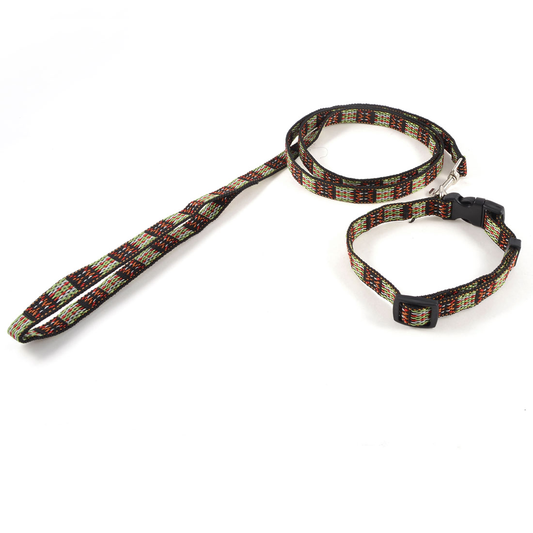 Multicolor Nylon Traction Strap Pulling Leash Lead Set for Puppy Dog Pet