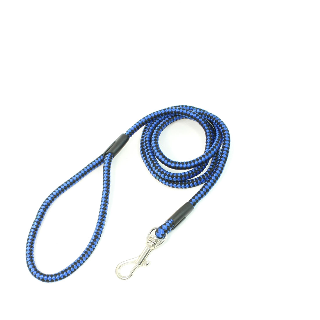 "Puppy Pet Lobster Clasp Black Blue Nylon Rope Dog Lead Leash 0.8"" Dia"