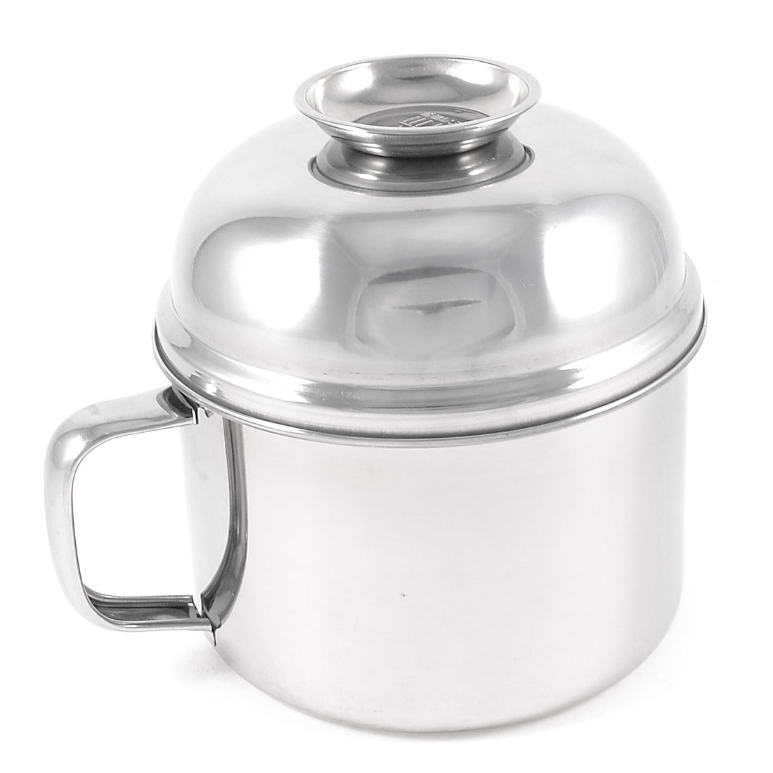 "Family Home Silver Tone Stainless Steel Lunch Box 5.8"" Diameter"