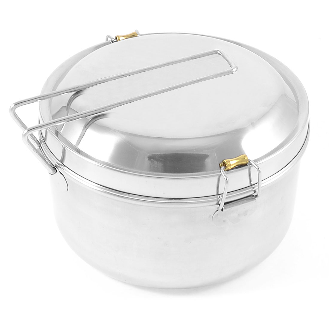 Kitchenware Detachable Handle 16cm Diameter Stainless Steel Lunch Box