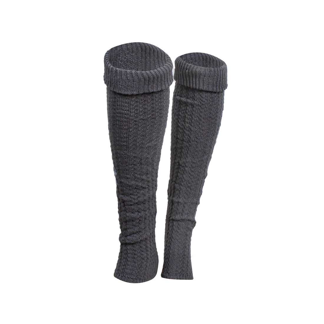 2x Grey Toeless Knee High Warm Leg Warmers Stocking for Lady