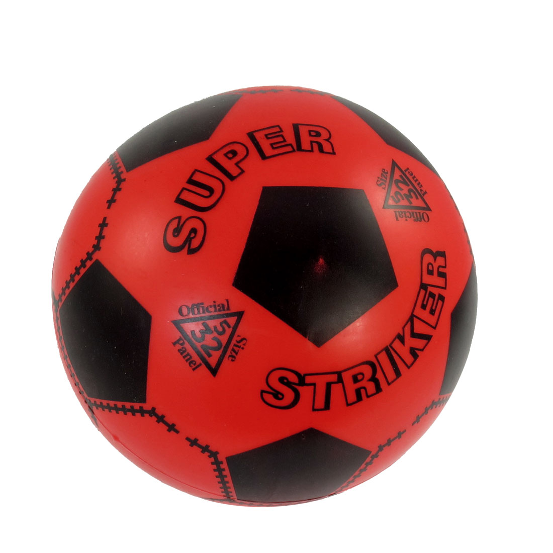 Red Black 18cm Diameter Soft Plastic Football Toy for Child