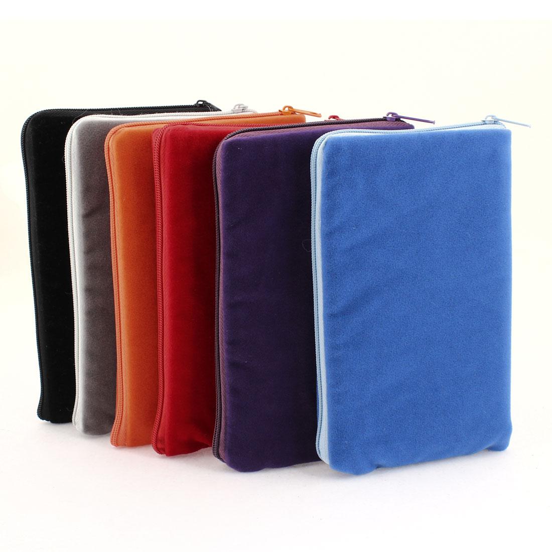6 Pcs Soft Nylon Zipper Closure Wrist Pouch for Cell Phone