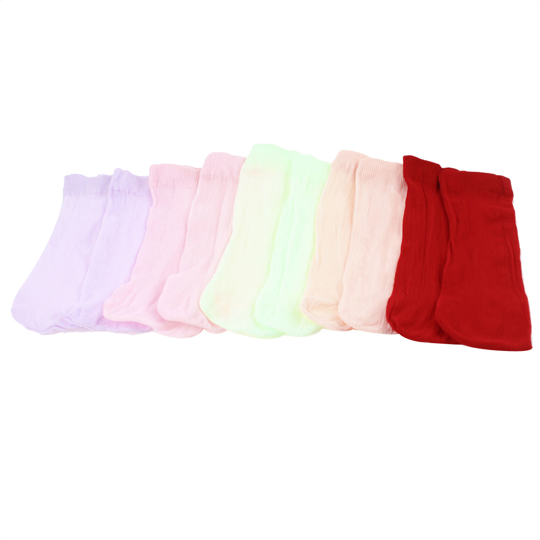 Kids Children Assorted Color Stretchy Cotton Blends Hosiery Socks 20 Pair