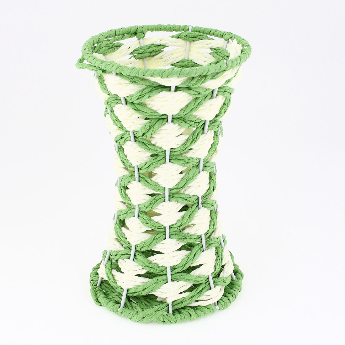 Household Lawn Green Braided Cord Hollow Out Vase Sundries Storage Basket Holder