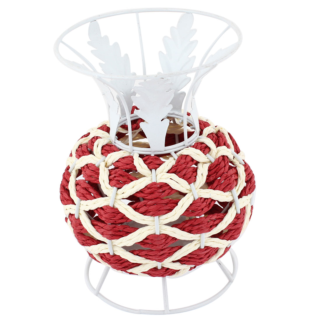 Office Tree Decor Brick Red Braided Cord Vase Pen Ruler Craft Basket Holder