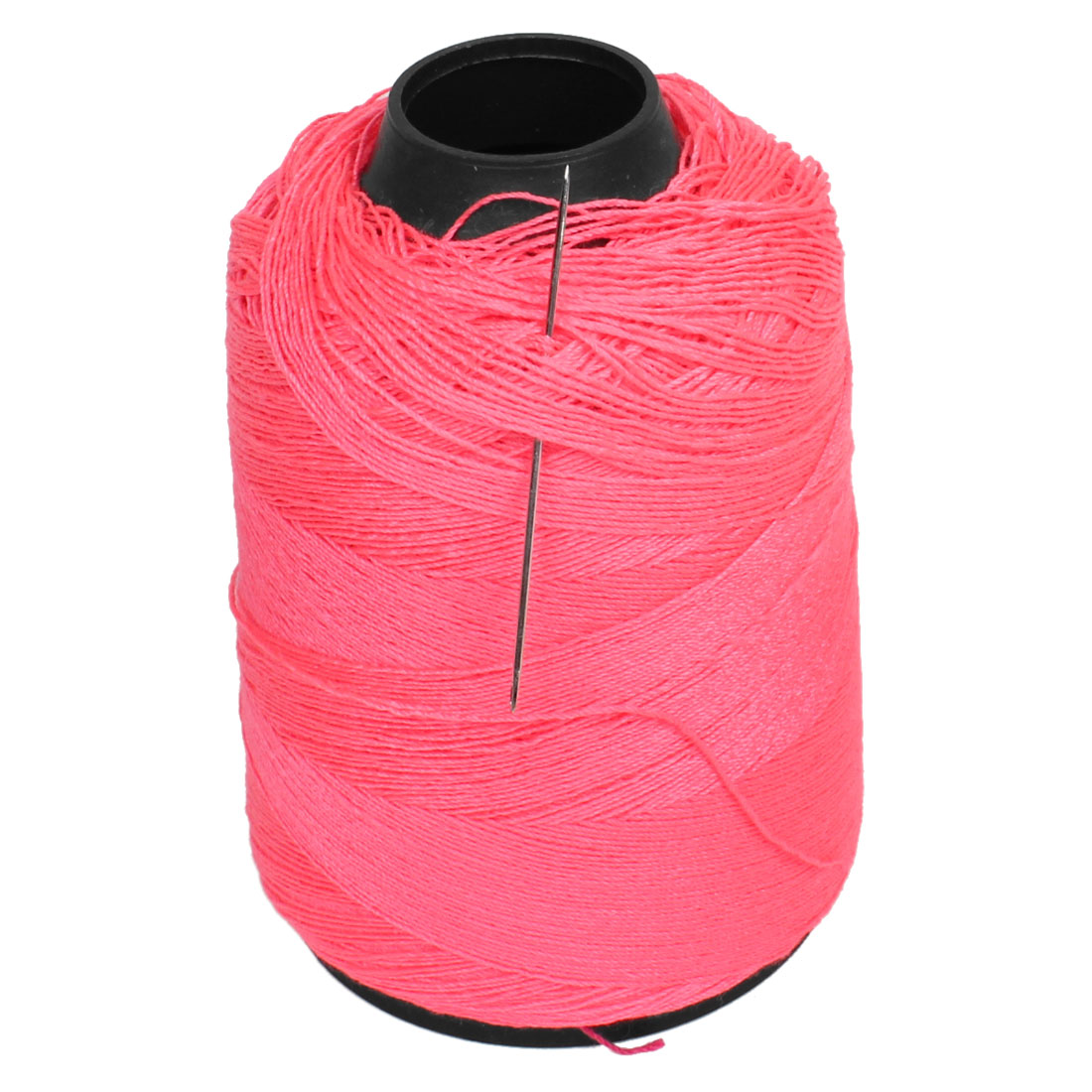 1 Roll Tailoring Cotton Line Sewing Thread Spool Pink + Needle