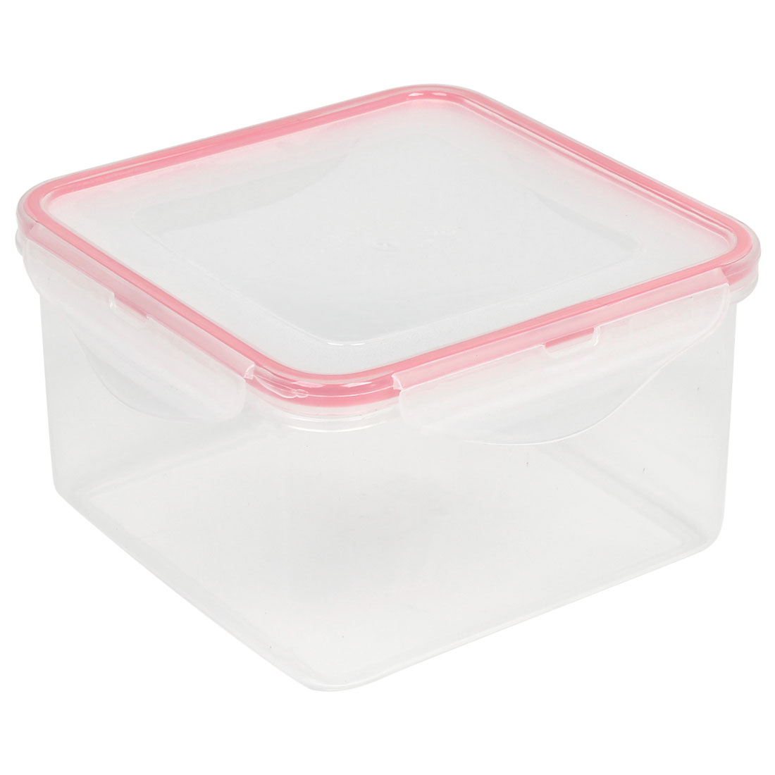 Squar Shaped Outdoor White Food Container Dinner Case Box Cover Pink