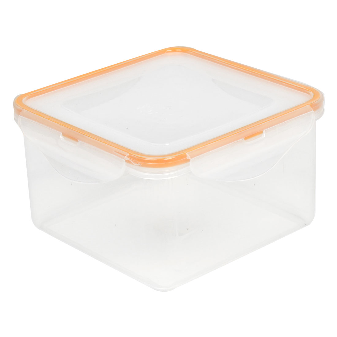 Travel Picnic White Light Orange Plastic Meal Lunch Food Holder Box