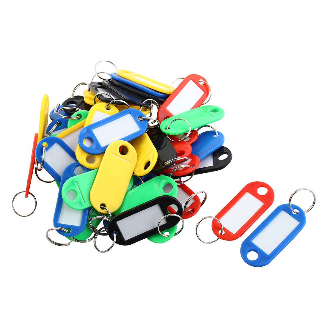 50 Pcs Assorted Color Plastic Staff Students Key Id Tag Label Window w Box