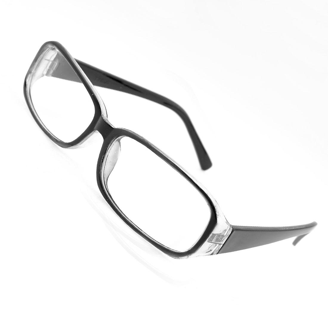 Black Clear Full Rim Screw Joints Single Bridge Plain Glasses