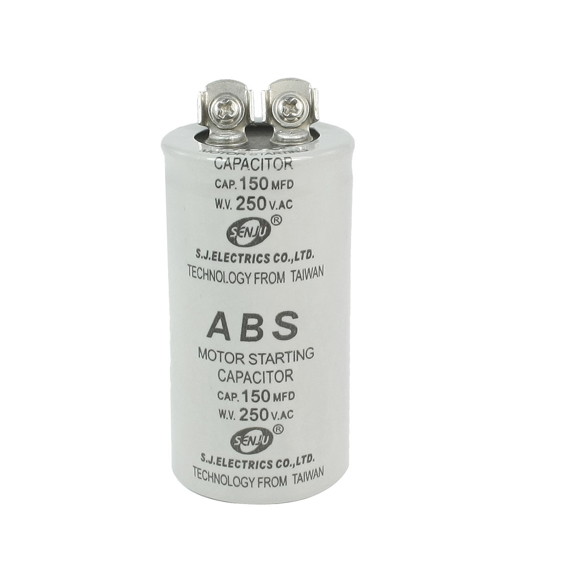 ABS Series Motor Cylinder Starting Capacitor 150UF 250V AC
