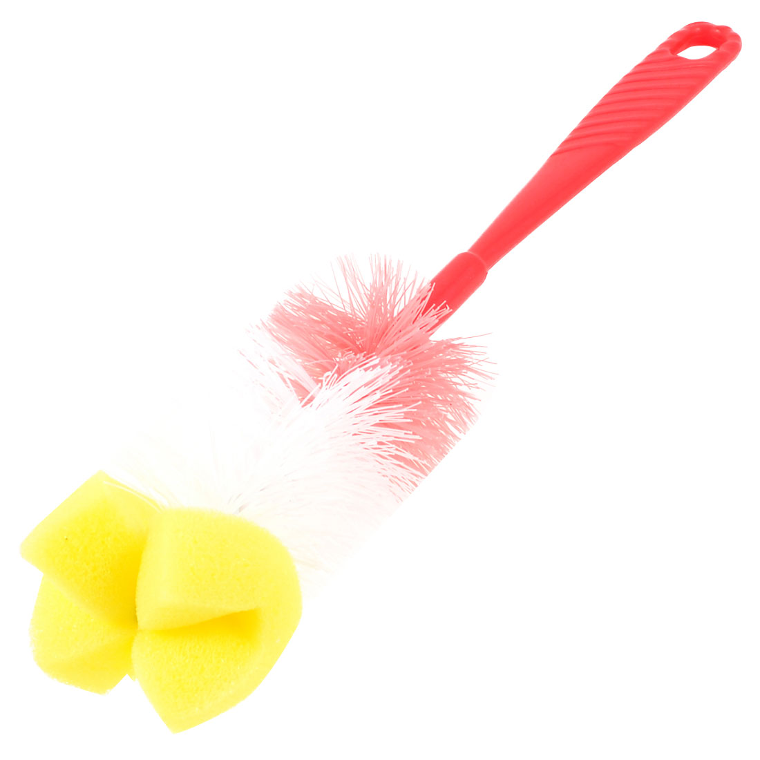 Red Handle Plastic Hair Sponge Cleaning Washing Tumber Cup Bottle Brush