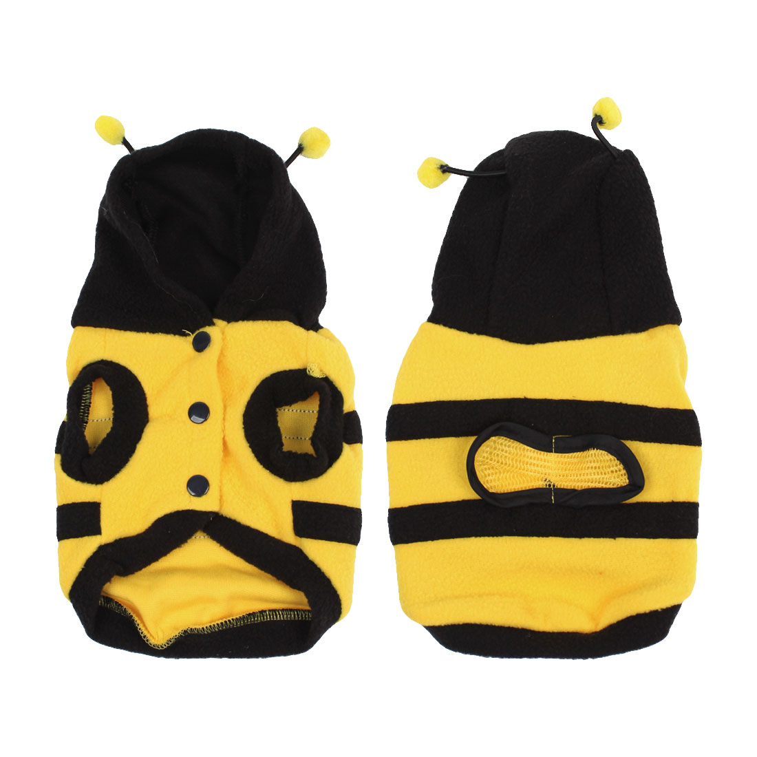 Winter Bee Style Cap Apparel Clothing Pet Cat Dog Hoodie Coat Yellow XS