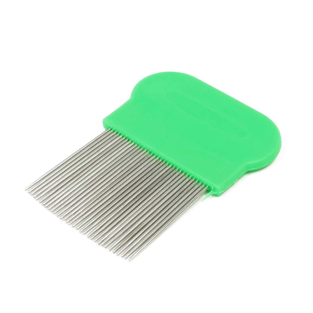 Pet Cat Dog Cleaning Grooming Metal Long Fine Teeth Rake Comb Green