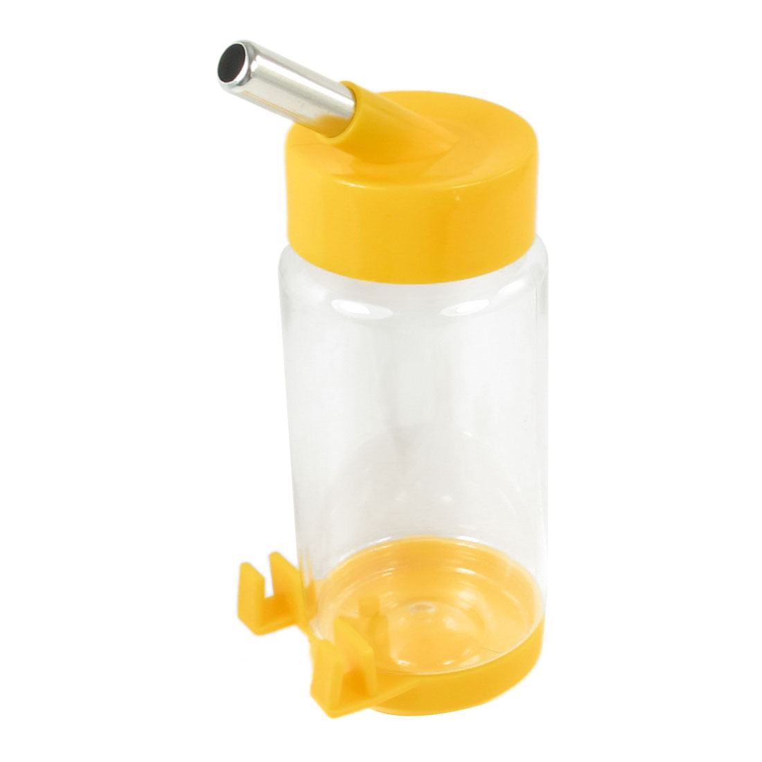 Dog Pattern Lion Style Top Water Bottle Pets Dispenser Yellow Clear 350ml