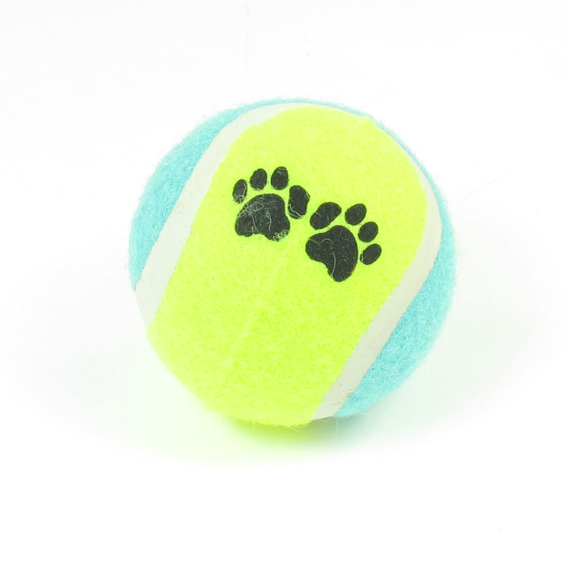 Pet Dog Cat 6.2cm Dia Blue Yellow Green Catch Fetch Tennis Ball Toy