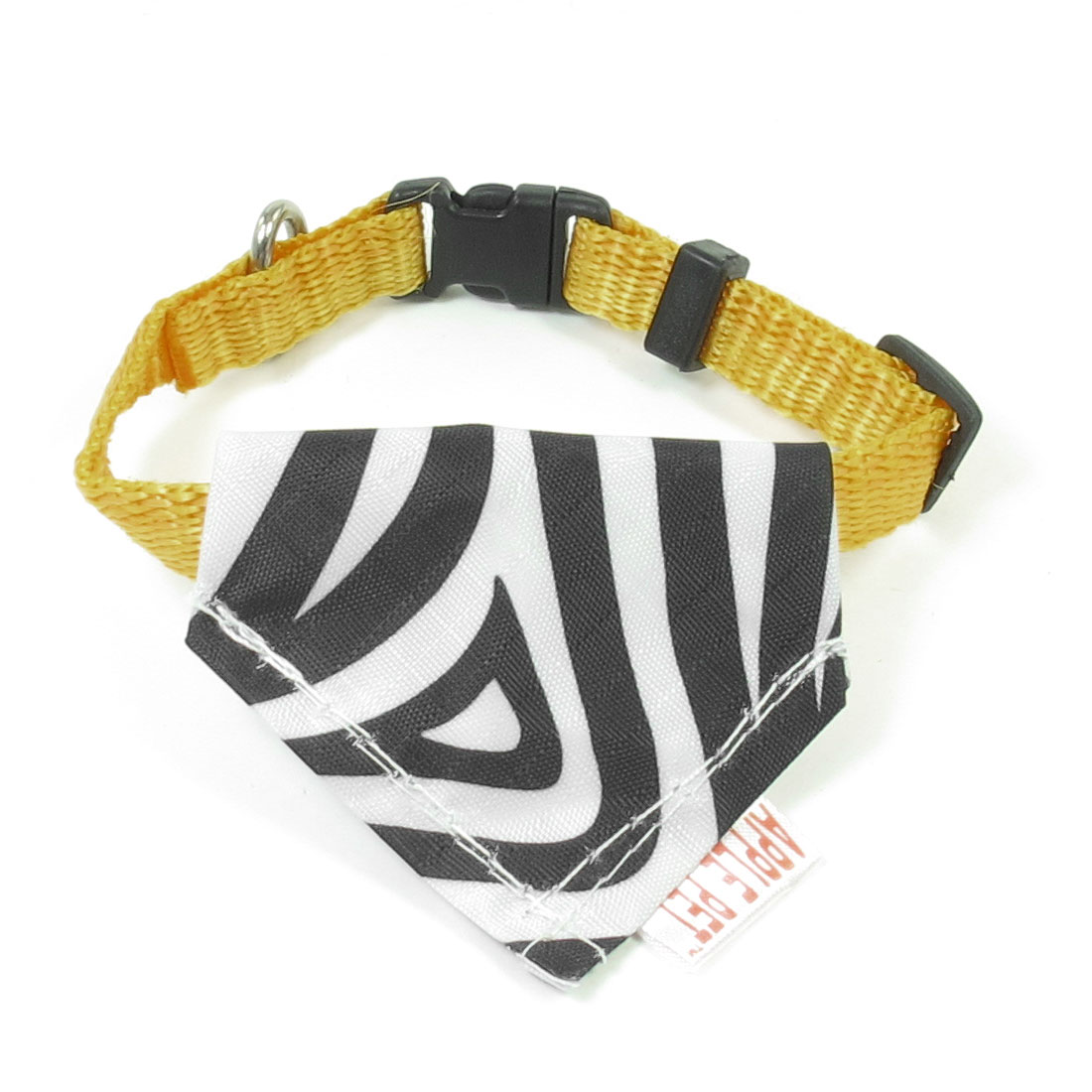 "0.4"" Width Pets Cats Doggie Triangle Scarf Bandana Neck Collar Ornament Yellow"