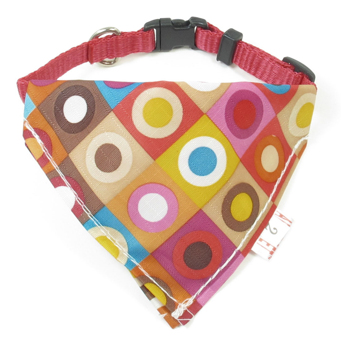 1cm Wide Adjustable Multicolor Square Print Pet Dog Triangle Bandana Collar Rope