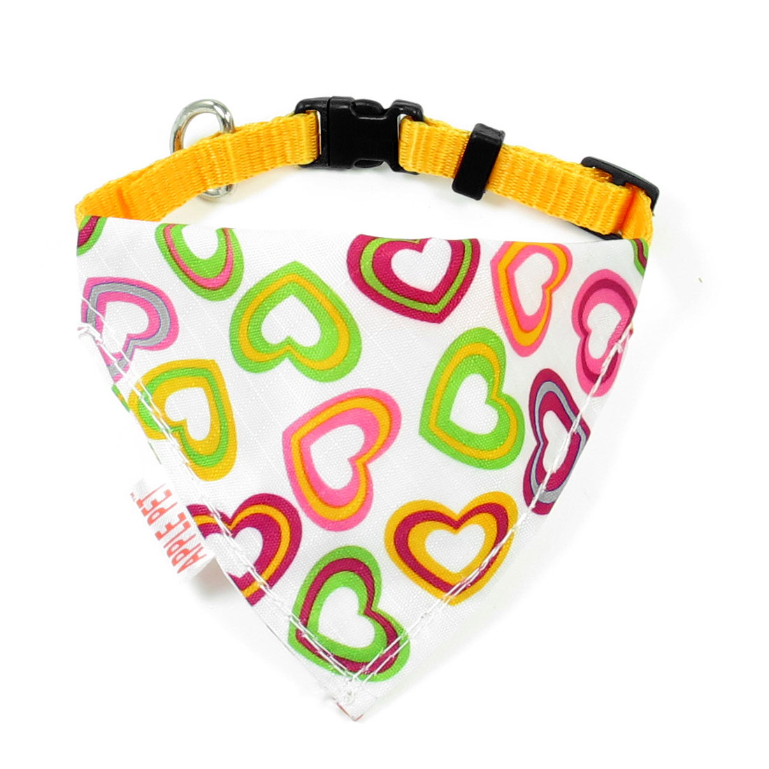 Adjustable Belt Pets Doggie Triangle Scarf Bandana Neck Collar Ornament Yellow