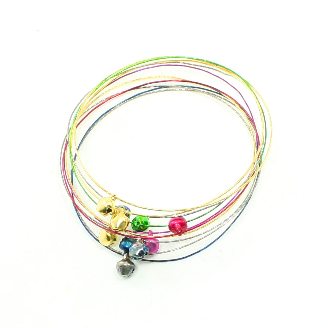 Ladies Assorted Color Multi Layer Wrist Ring Bracelet Bangle 10 Pcs