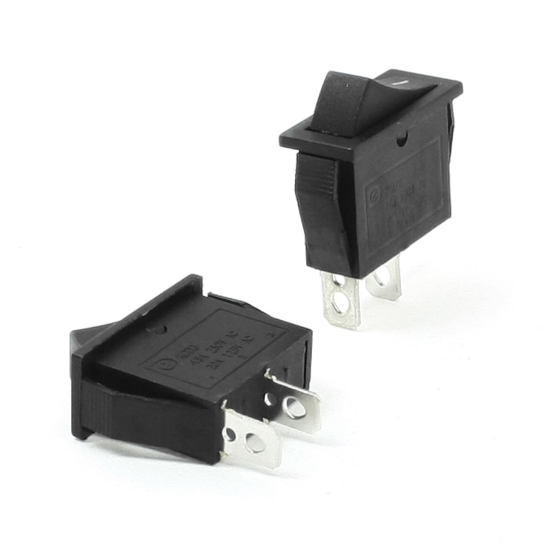 AC 250V 15A 125V 20A Black ON/OFF Snap In Boat Rocker Switch Pair