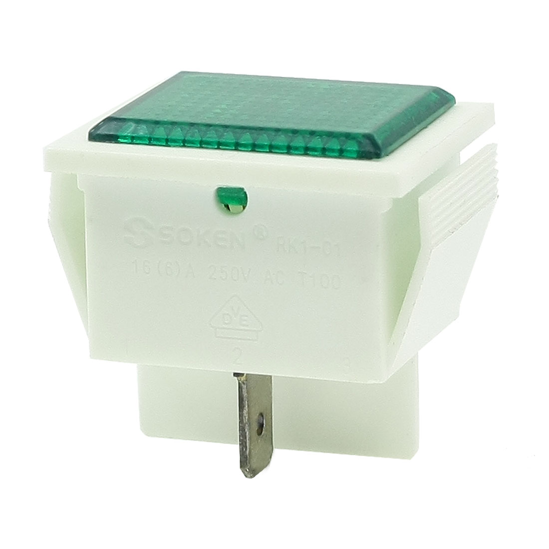 Green Indicator Light 2 Terminals Fault Signal Lamp AC 250V 16A