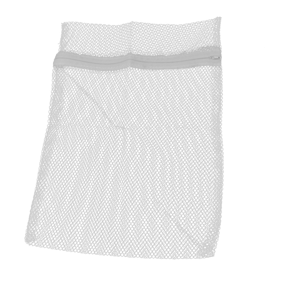 Household Dirty Clothes Laundry Folding Mesh Bag Holder White 38x29cm
