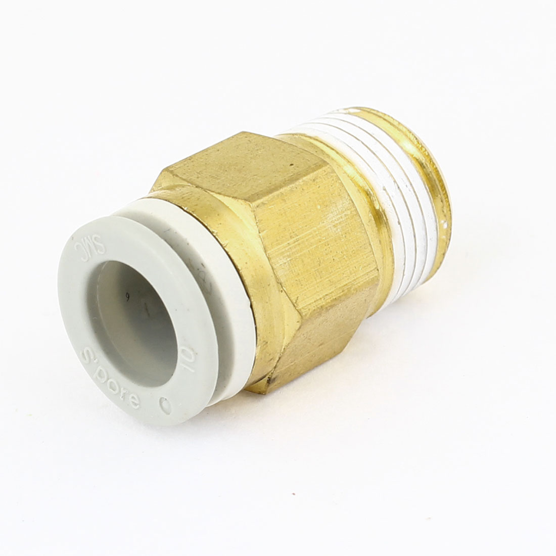 "Pneumatic One Touch Push In Quick Fitting 3/8"" PT Thread for 10mm Air Tube"