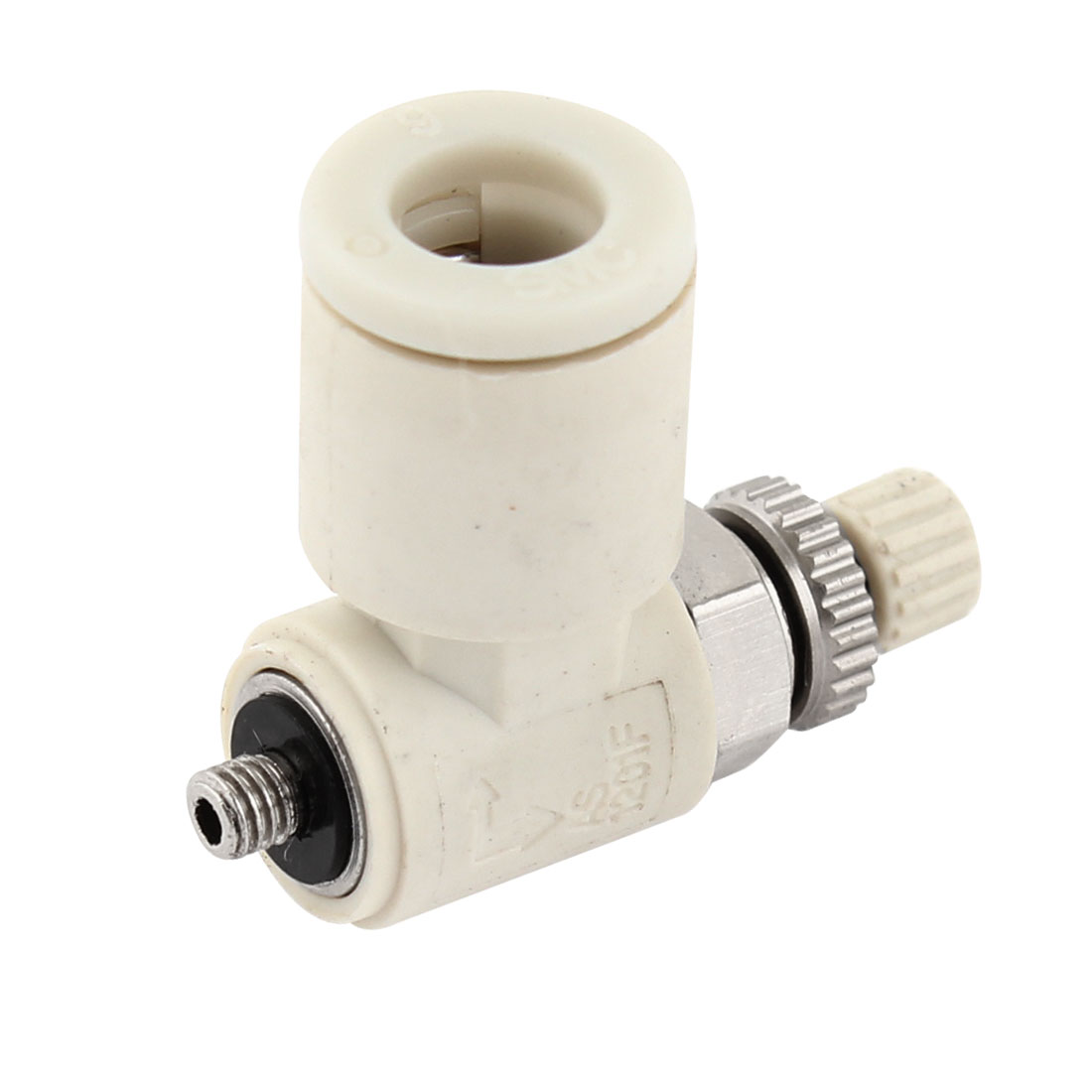 6mm Inner Dia Plastic Air Tube Push in Connector Flow Control Fitting