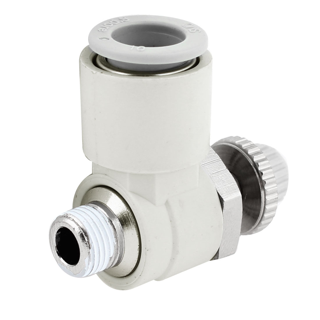 Pneumatic Air Valve Push in Connector Flow Control Fitting for 10mm Tube
