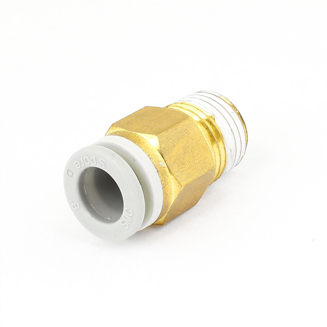 "1/4"" PT Male Thread to 8mm Tube Push in Connect Straight Quick Fitting"