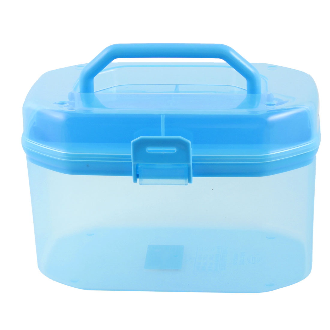 Clear Blue Multi Purpose Case Component Stationery Cosmetic Storage Box Holder