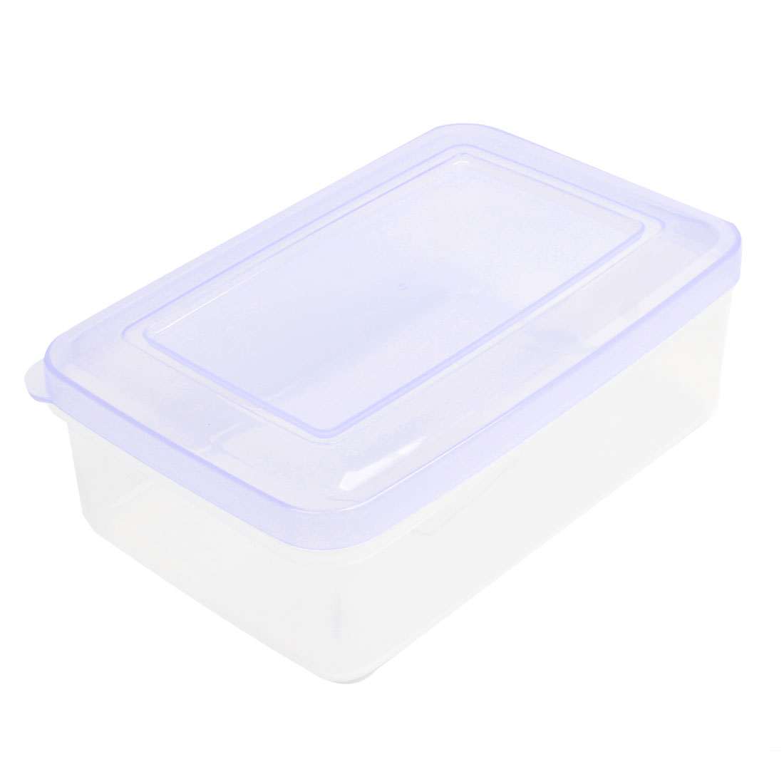 Light Purple Clear Rectangular Portable Airtight Container Crisper Kitchen Ware