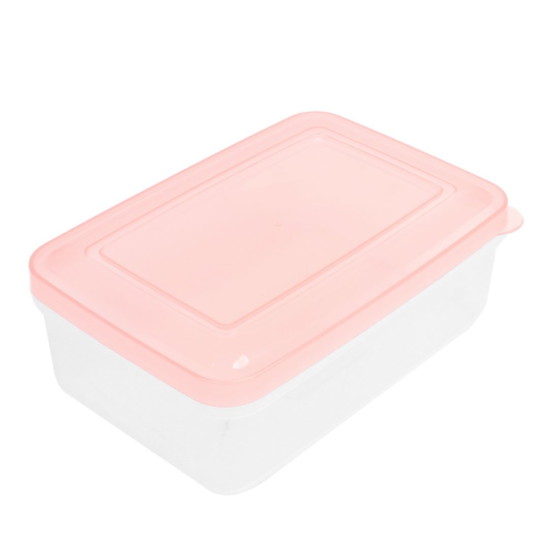 Peachpuff Clear Rectangle Airtight Food Container Crisper Kitchen Ware