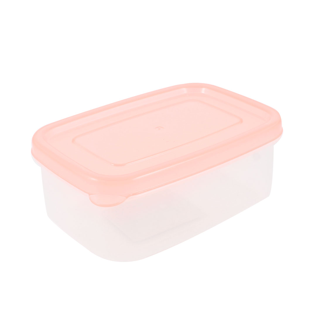 Clear Pink Rectangle Airtight Food Container Crisper Kitchen Ware