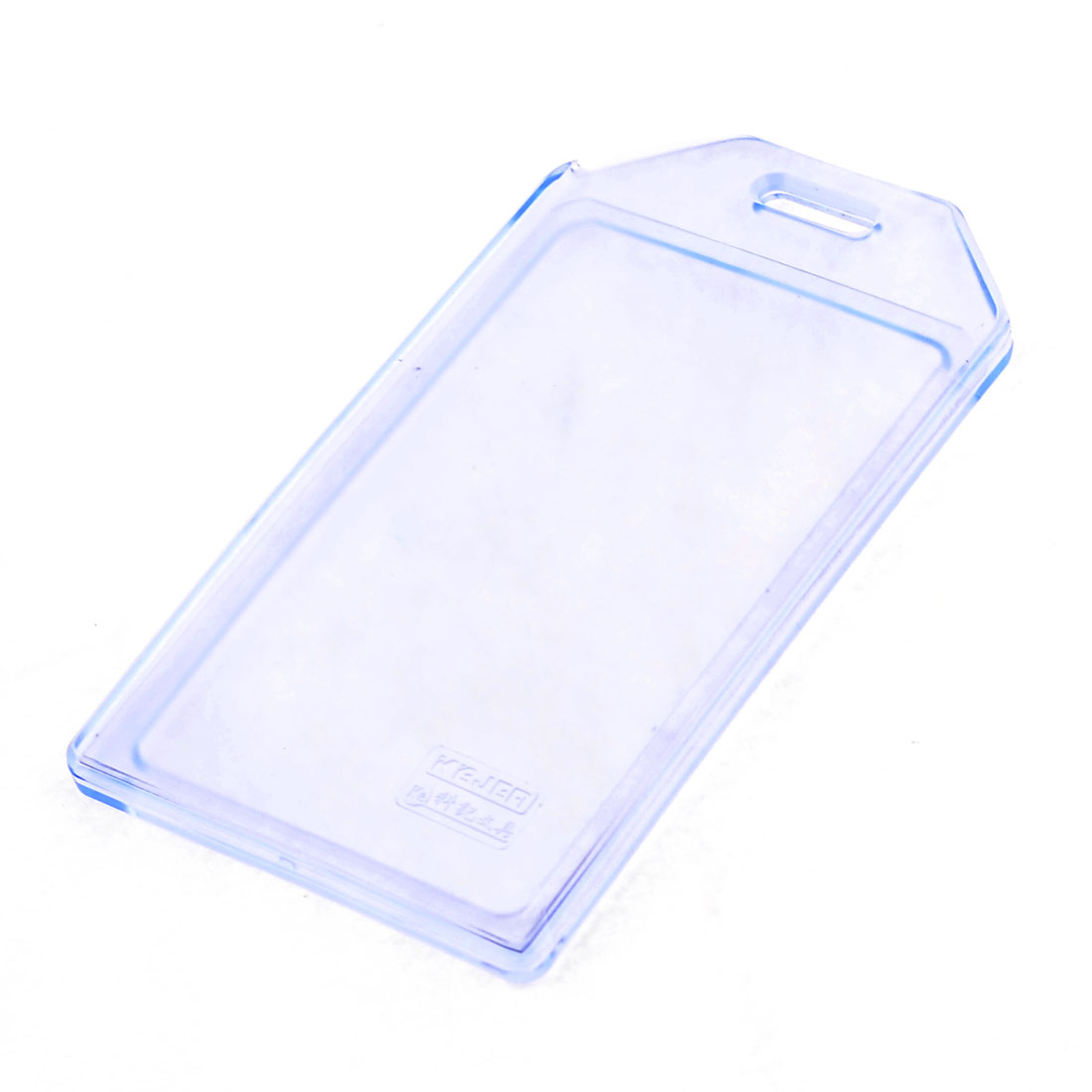Clear Blue Soft Plastic Working Card Vertical Holder