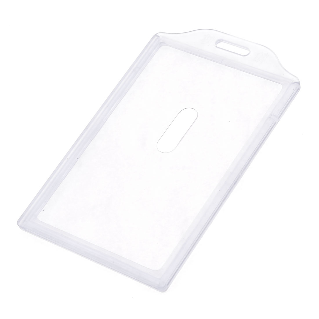 Light Blue Clear Plastic Housing Office Work Card Holder for Stafff
