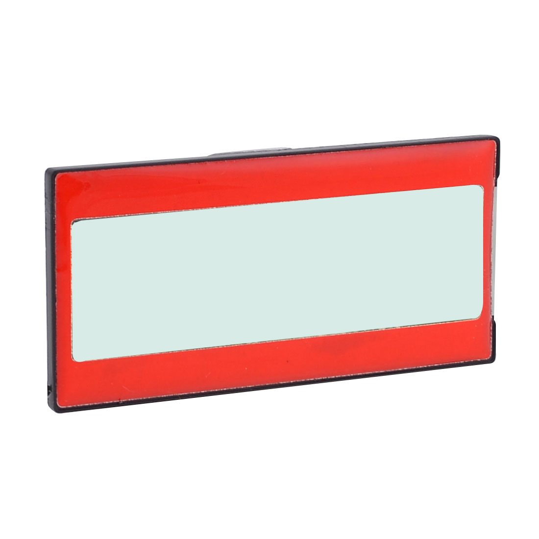 Red Black Plastic Housing Clear Spring Clip Work Office Badge Holder