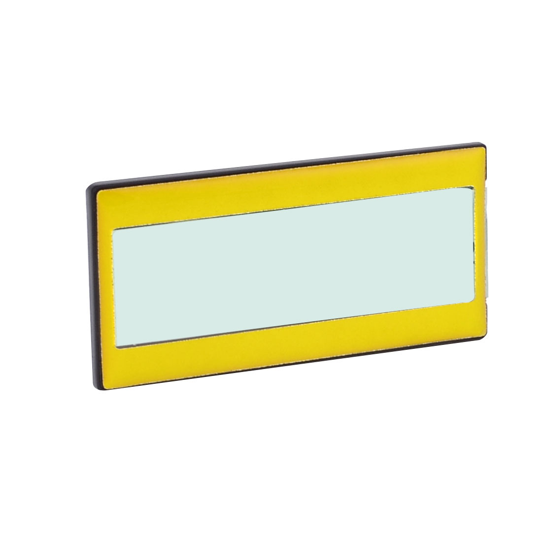 "Yellow Fit Badge Size 2.6"" x 0.75"" Black Housing School Badge Holder"
