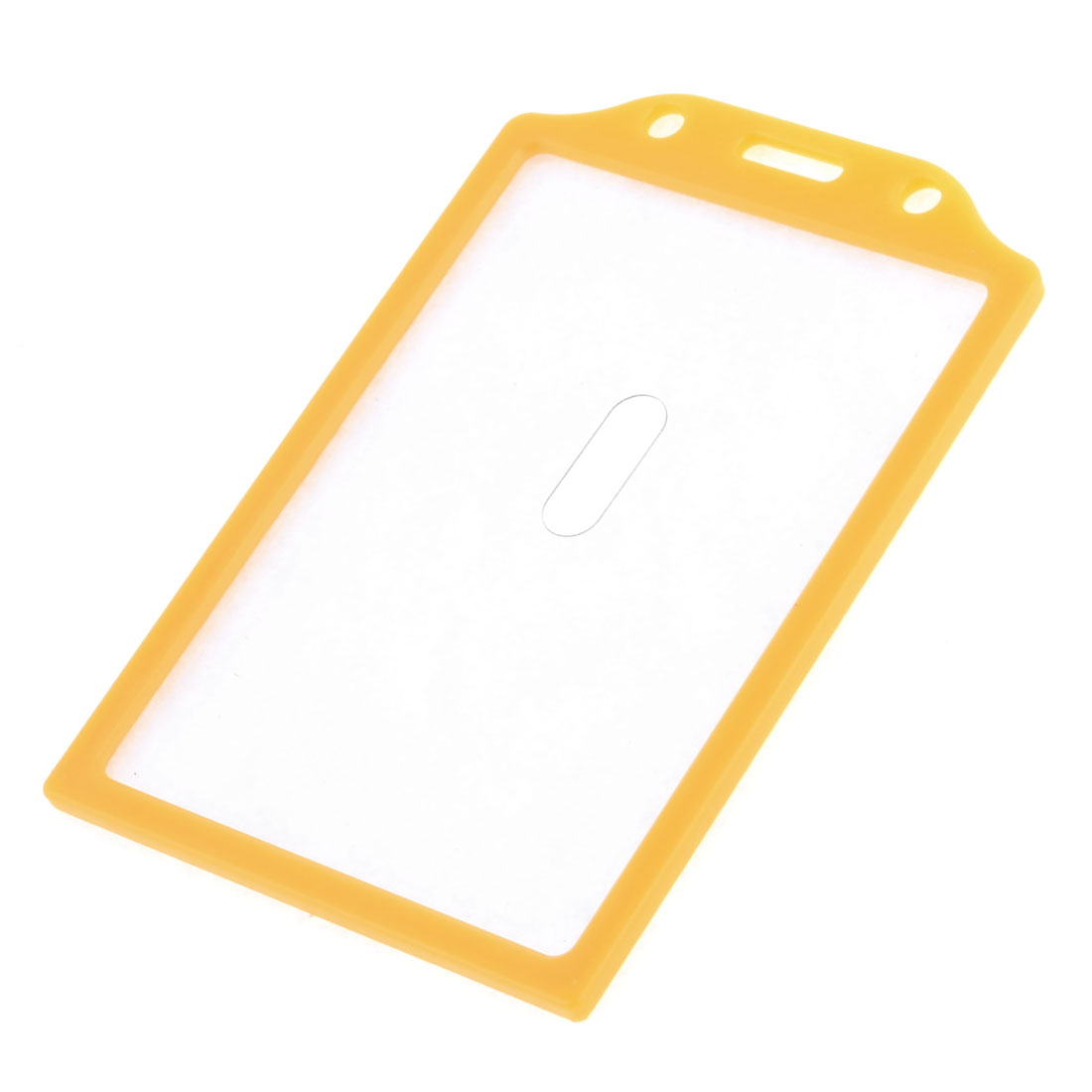 Orange Hard Plastic Vertical Office Working Card Holder