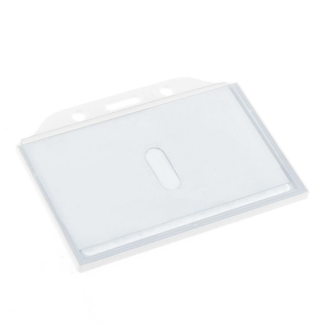 White Clear Hard Plastic Office Horizontal Work Card Holder